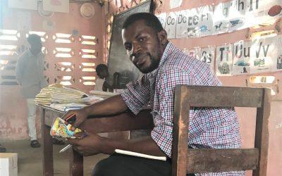 Each week, Abba Karnga, Jr. visits Luminos classrooms