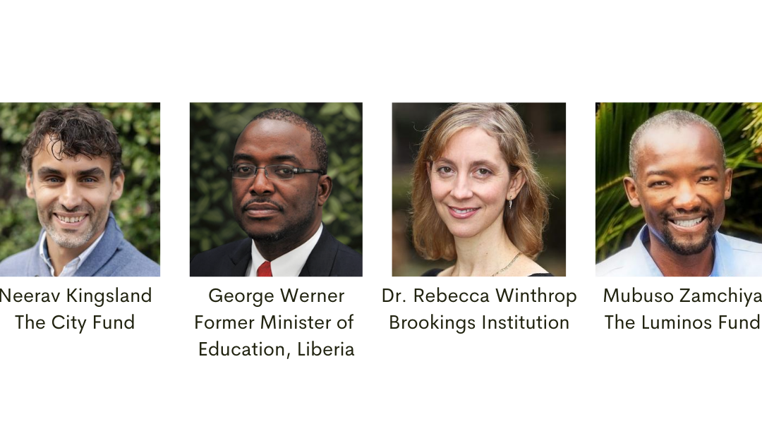 Webinar: What the Return to School after Hurricane Katrina and the Ebola Epidemic Can Teach Us in the Current Moment